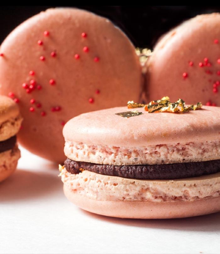 recette de macarons chocolat et ganache au chocolat