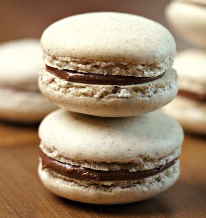 recette de macarons chocolat noisette