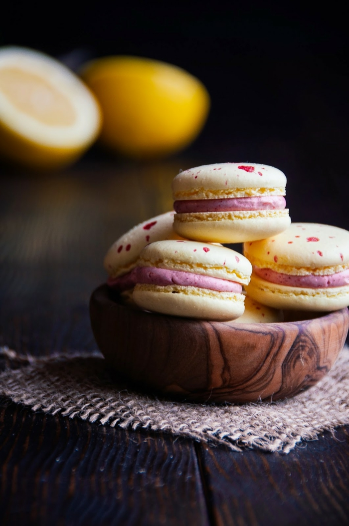 recette de macarons citron et framboise