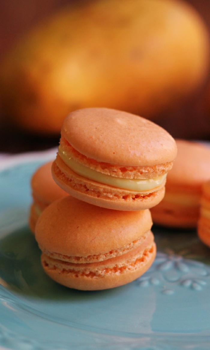 recette de macarons mango chocolat blanc