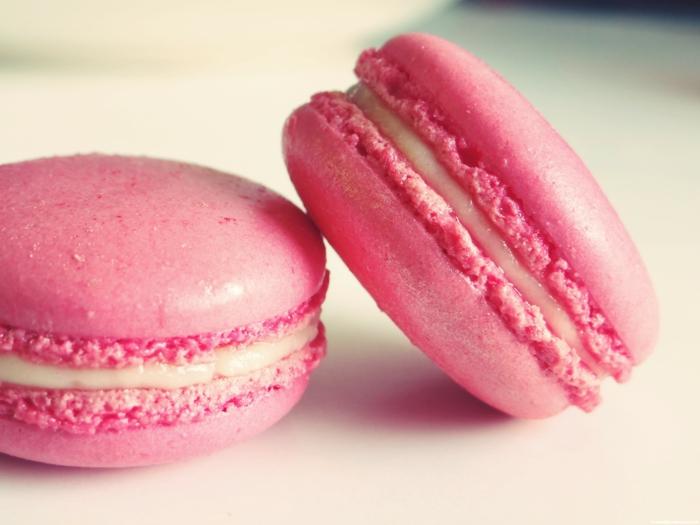 recette de macarons rose et vanille