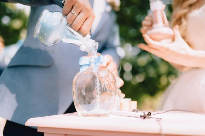 rituel du sable idée mariage