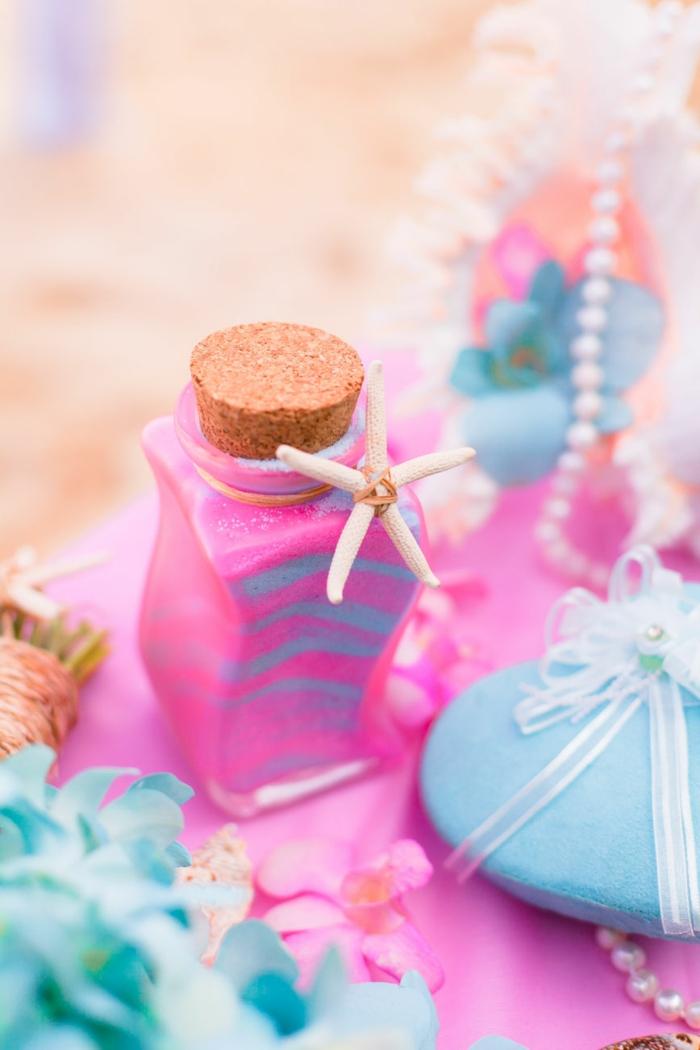 rituel du sable mariage jolie bouteille