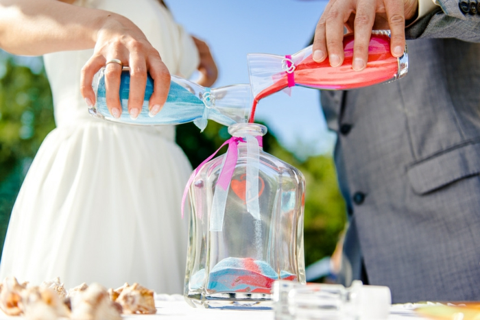 rituel du sable mariage