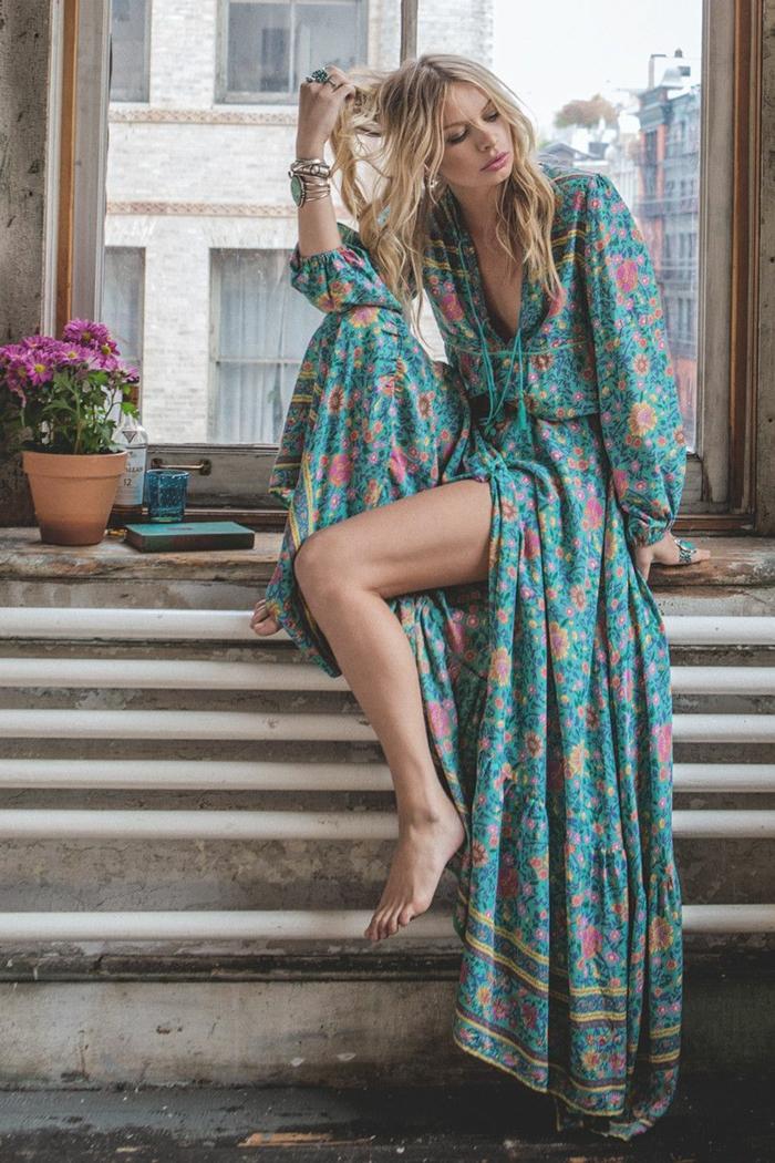 robe longue bohème été 2018