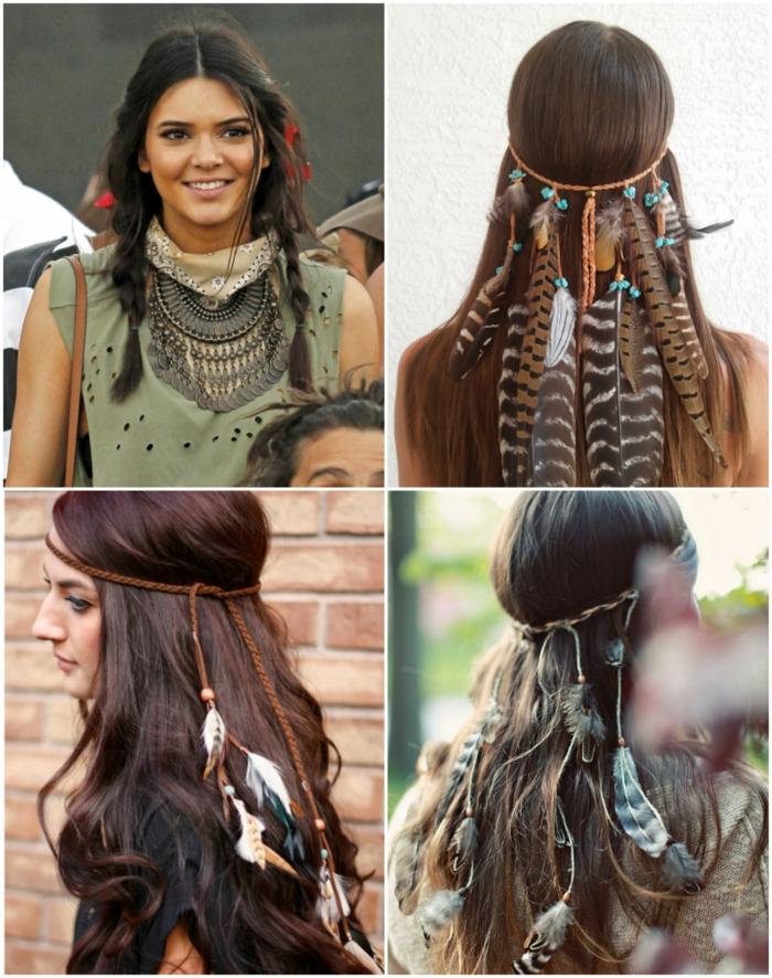 robe longue bohème et accessoires pour les cheveux