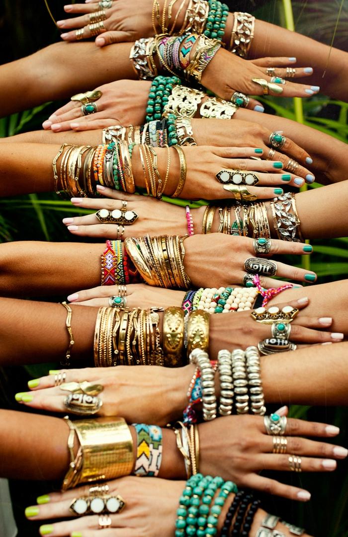 robe longue bohème idée de bracelets pour l'été