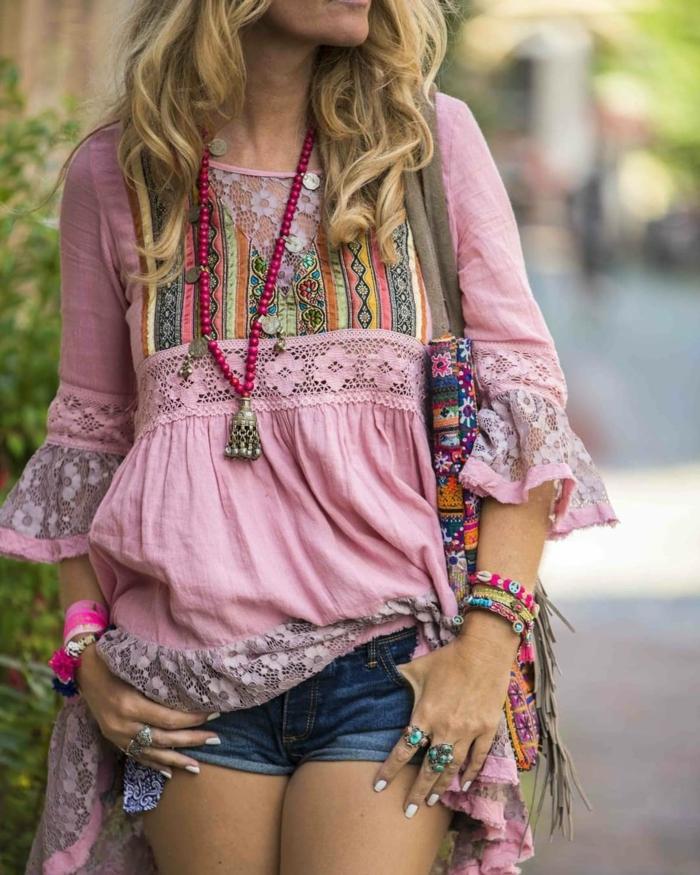 robe longue bohème idée pour les bijoux