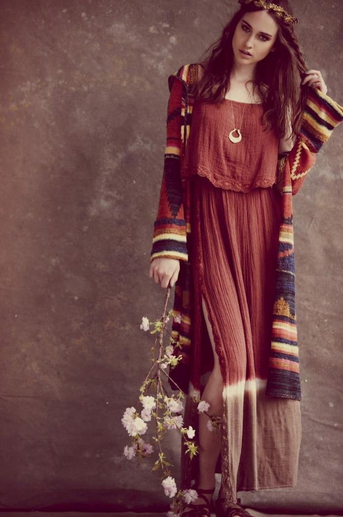 robe longue bohème idées pour l'été