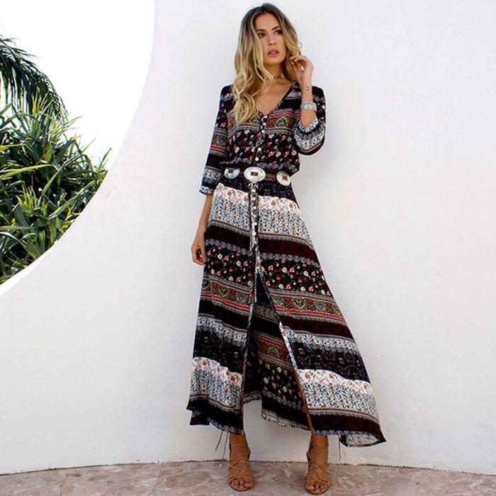 robe longue bohème pour l'été