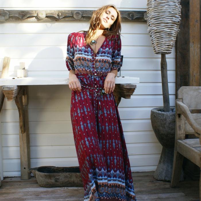robe longue bohème pour un look moderne