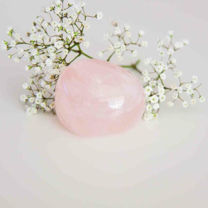 quartz rose lithothérapie idée