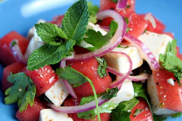 salade à la pastèque menthe et persil