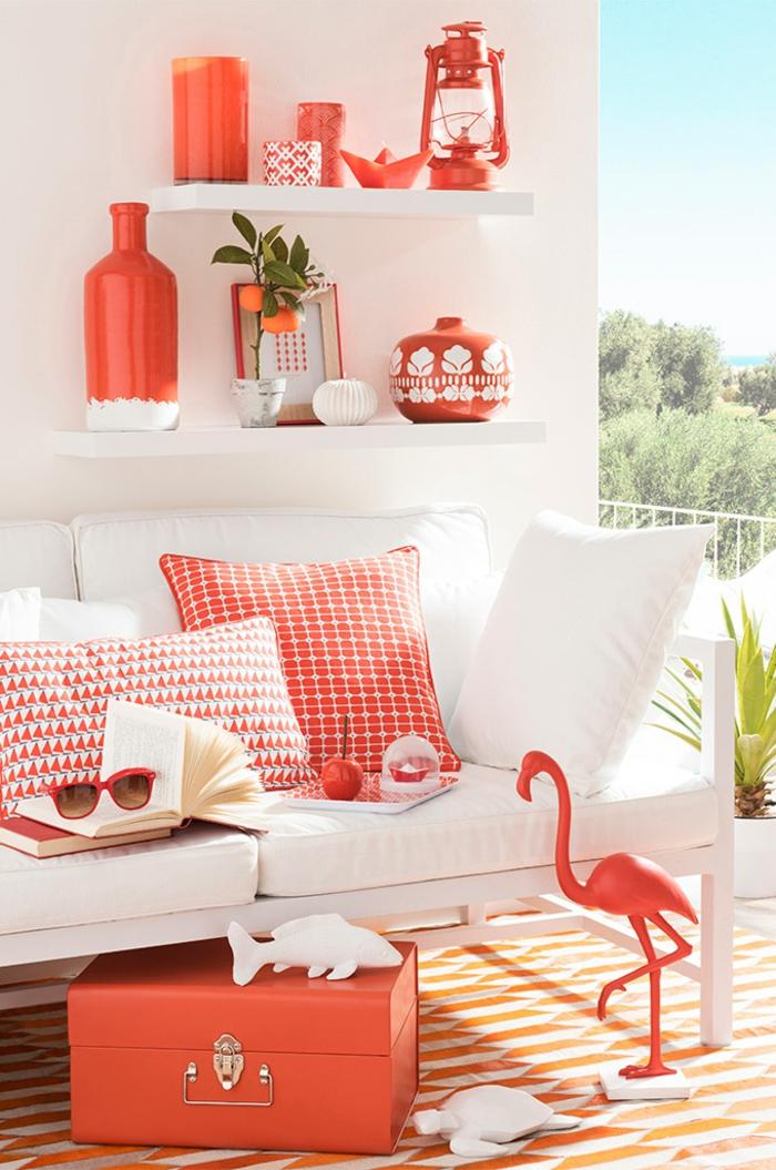 couleur corail dans la d coration en 50 magnifiques exemples. Black Bedroom Furniture Sets. Home Design Ideas