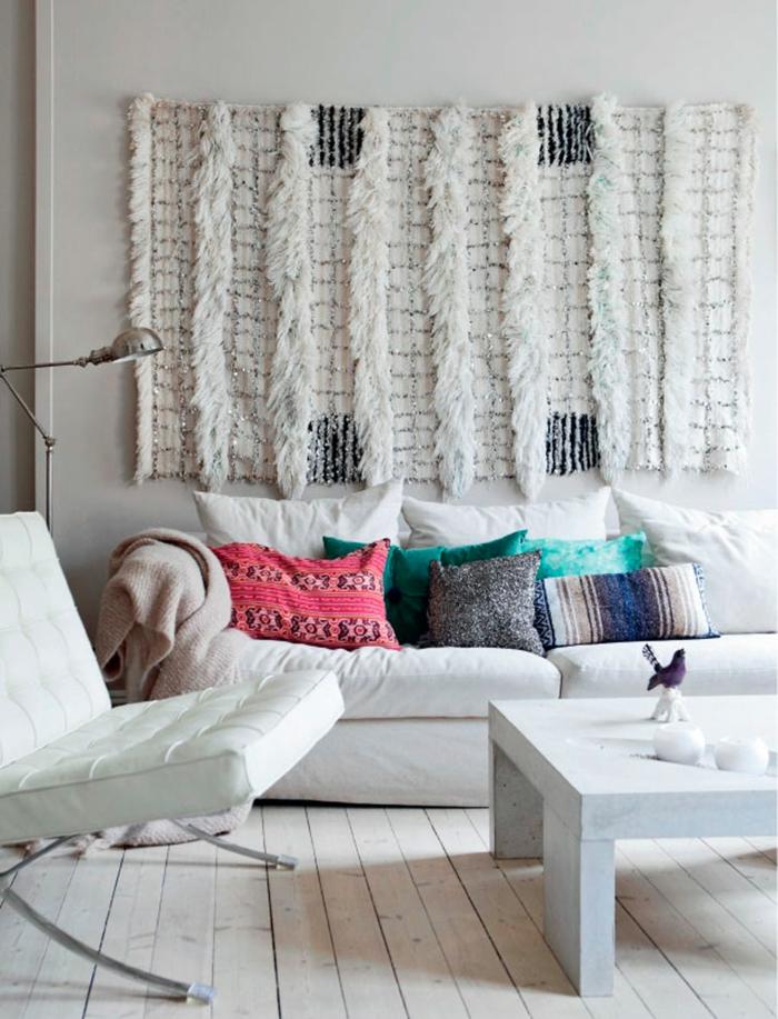 tapis berbère en laine déco murale salon