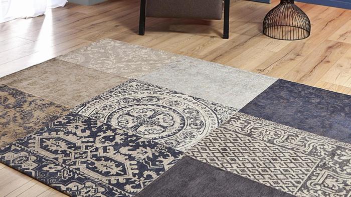 tapis berbère en laine en couleurs neutres