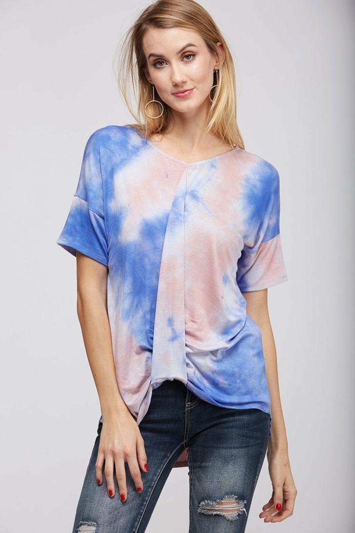 tie-dye blouse femme eau de javel concentrée