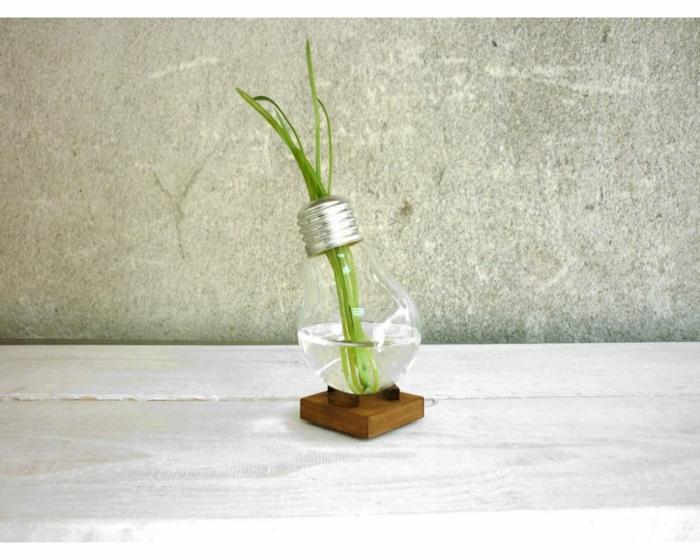 vase soliflore ampoule électrique