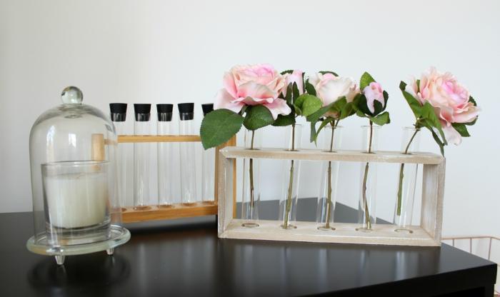 vase soliflore construction en bois