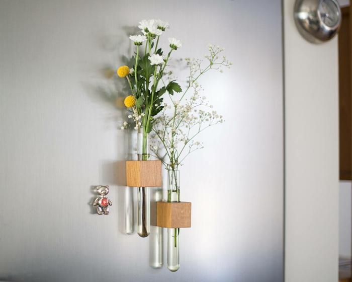 vase soliflore cubes en bois