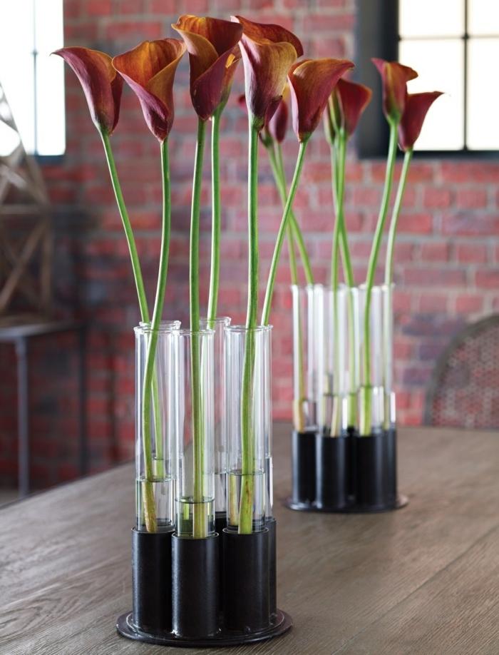 vase soliflore recyclage tubes à essai