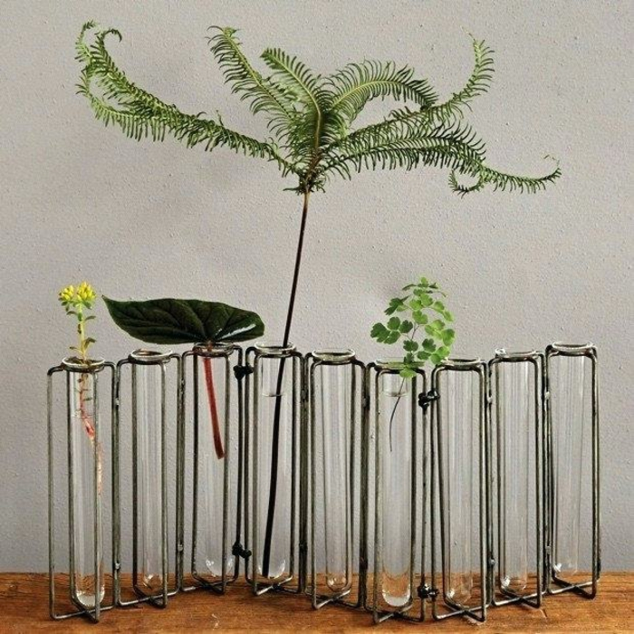 vase soliflore support en métal