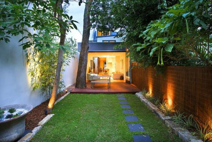 éclairage idée déco petit jardin