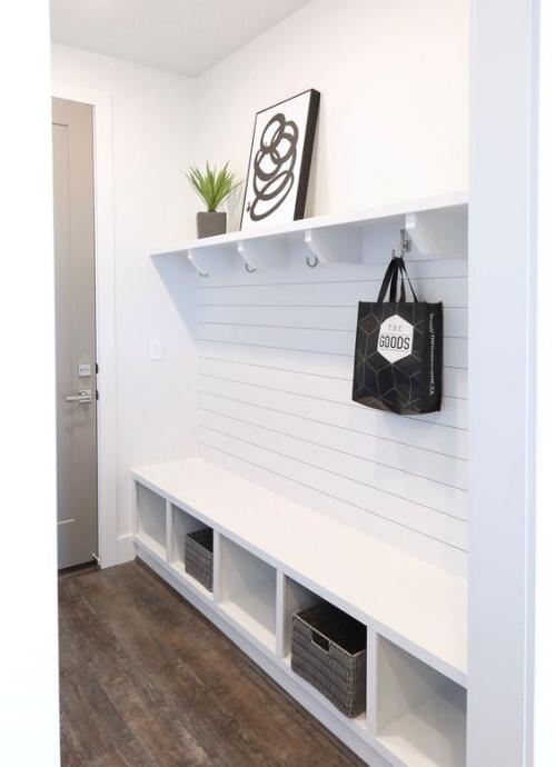 étagères Ikea Kallax étagère blanche élégante pour l' entrée