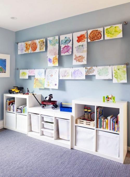 étagères Ikea Kallax étagère horizontale combinée