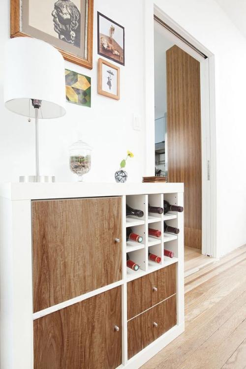 étagères Ikea Kallax étagère horizontale pour le salon