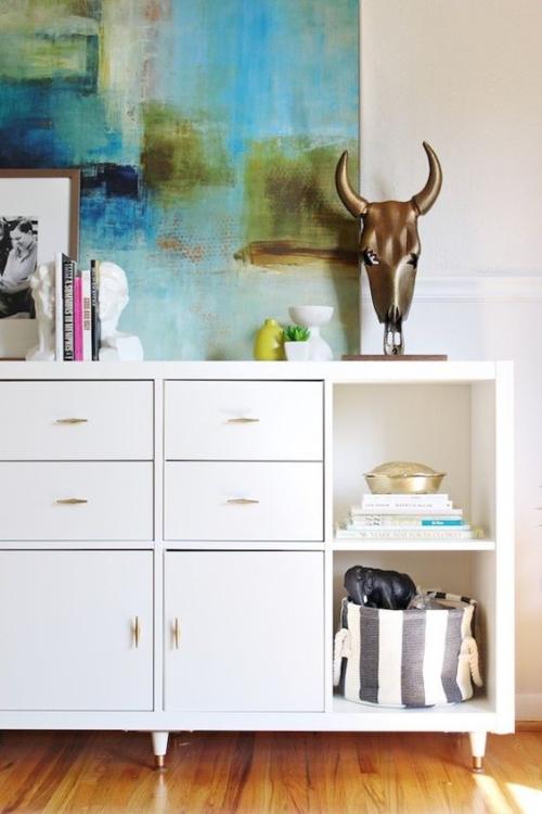 étagères Ikea Kallax jolie étagère en blanc