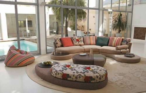 Canapé rond design très original