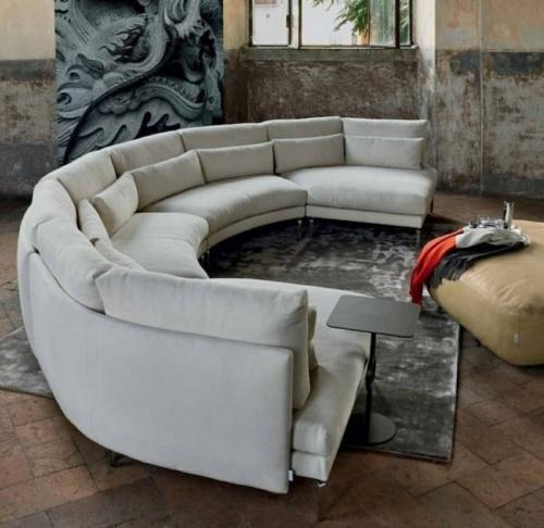 Canapé rond grand canapé en quatre parties
