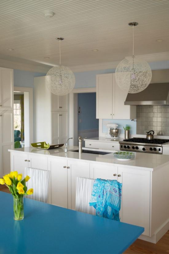 Cuisine tendances mur en bleu