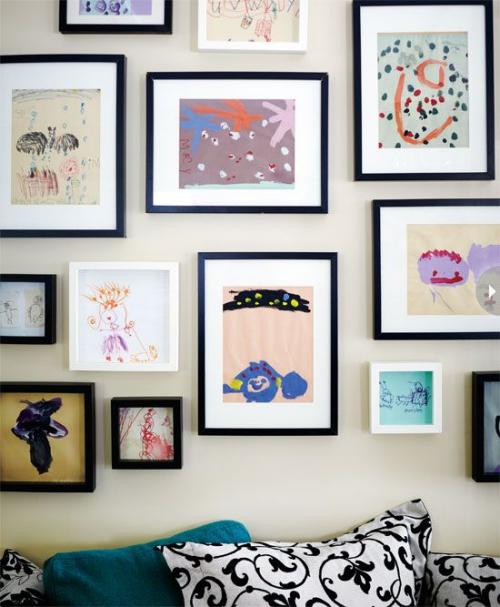 DIY mur gallerie enfants cadres très classe
