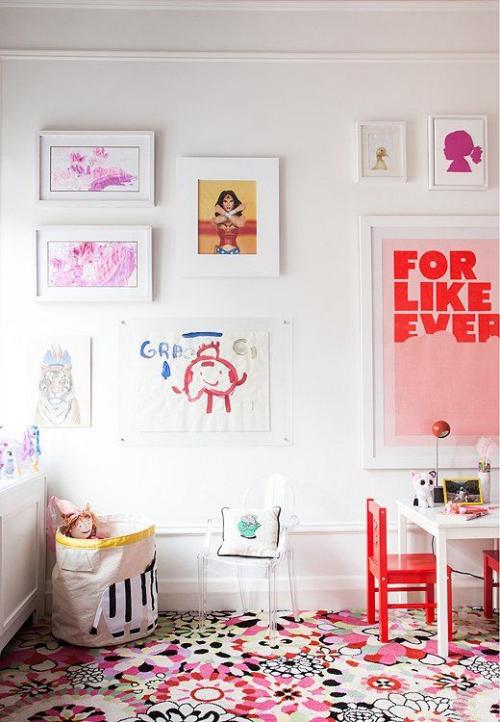 DIY mur gallerie enfants chambre d'enfants
