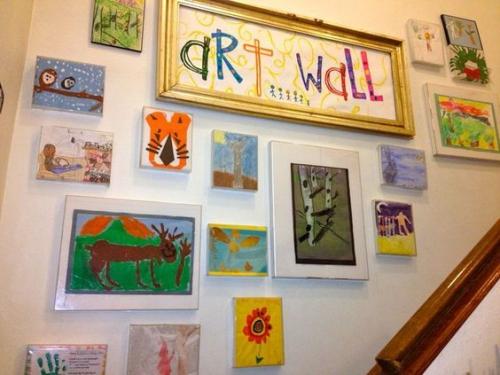 DIY mur gallerie enfants mur de l' art