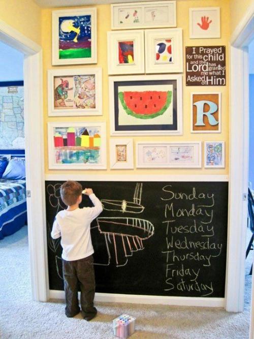 DIY mur gallerie enfants un mur multifonctionnel