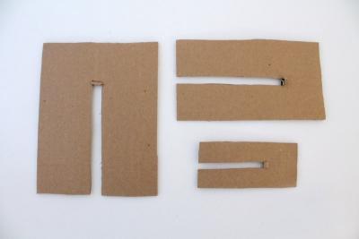 DIY pom pom trois coupures de carton solide