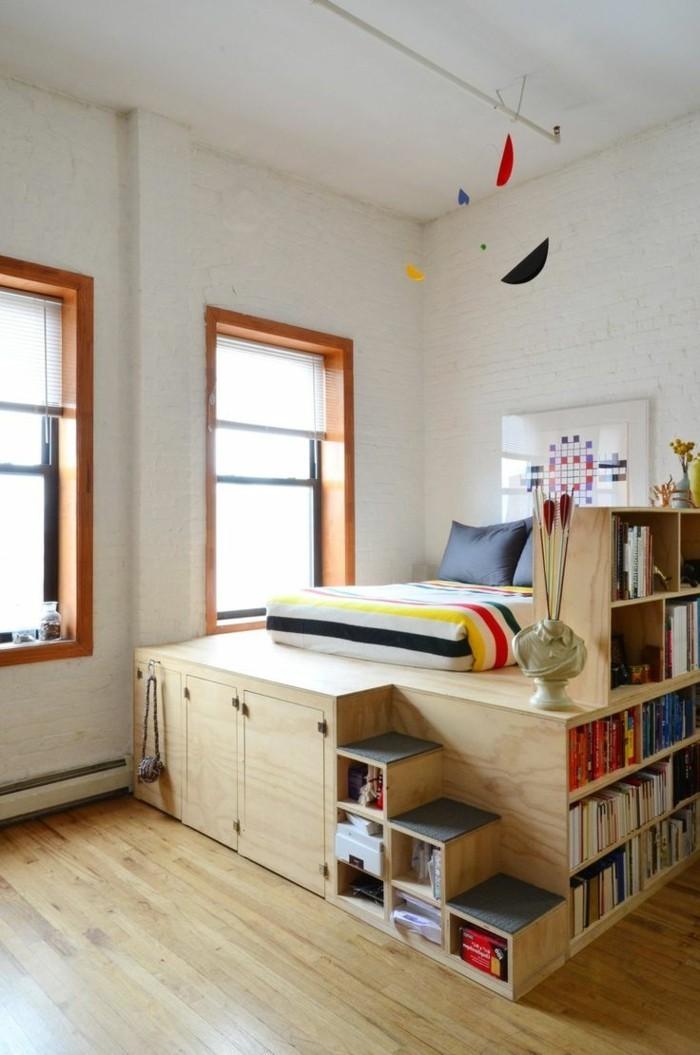 Idées cadres de lit à base élevée