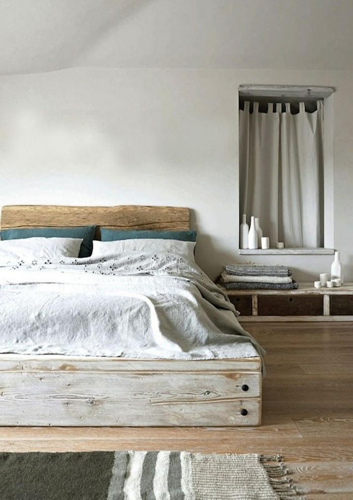 Idées cadres de lit cadre en bois dur non fabriqué