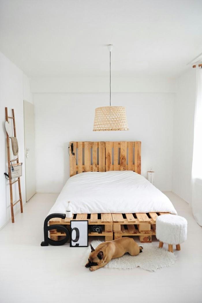 Idées cadres de lit composition de pallettes