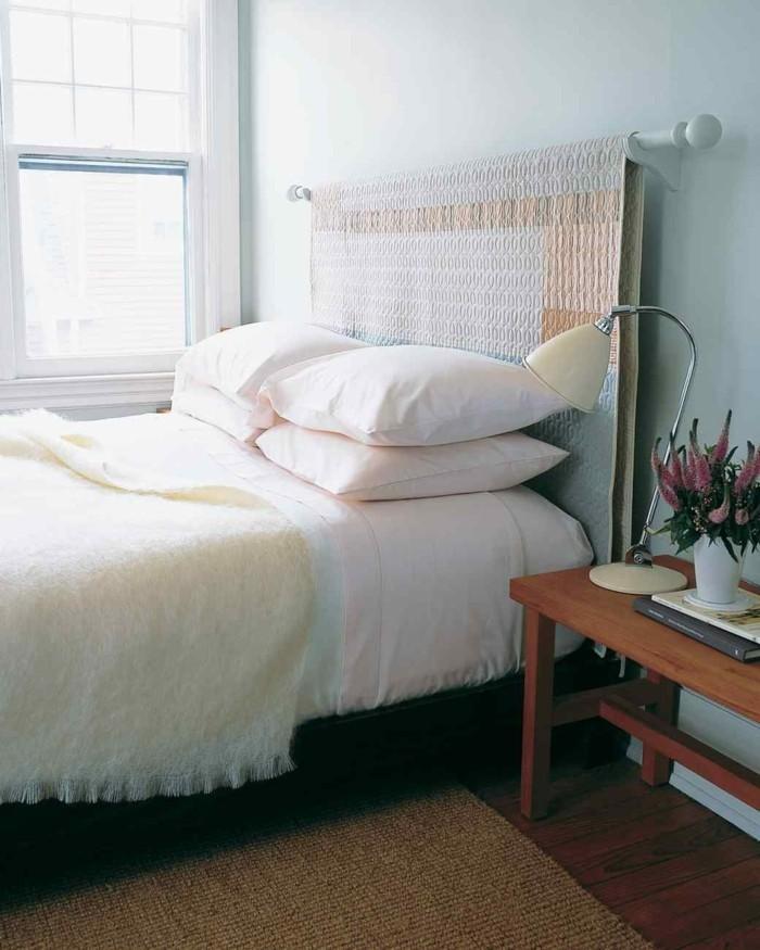 Idées cadres de lit en bois peint foncé