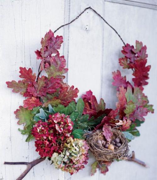 Idées couronnes d'automne couleurs gaies des feuilles