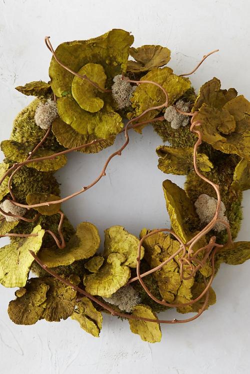 Idées couronnes d'automne couronne originale de lichens verts