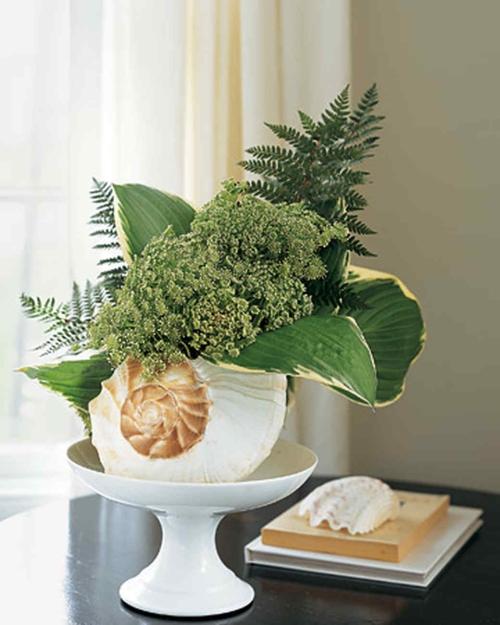 Idées d'artisanat de coquillages belle décoration pour le salon