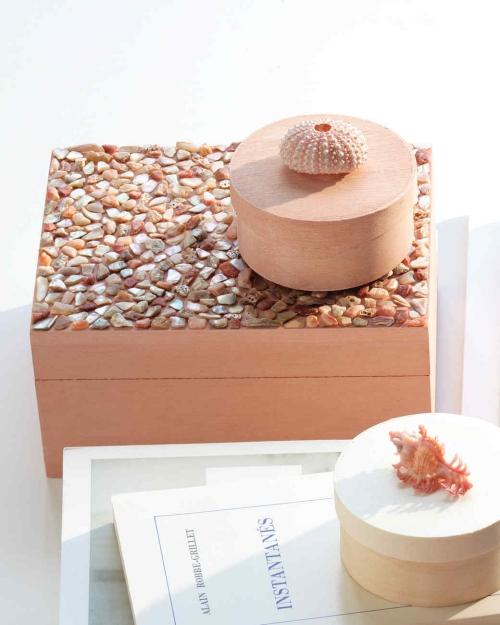 Idées d'artisanat de coquillages boîte à bijoux originale