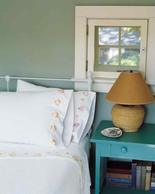 Idées d'artisanat de coquillages chambre à coucher style bord de mer