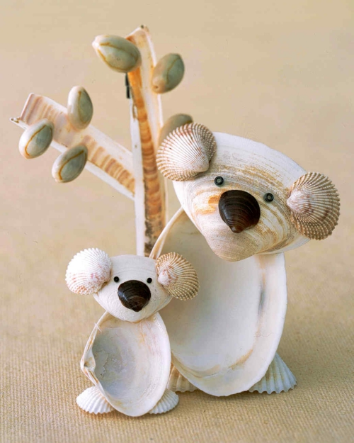Idées d'artisanat de coquillages faune sympathique
