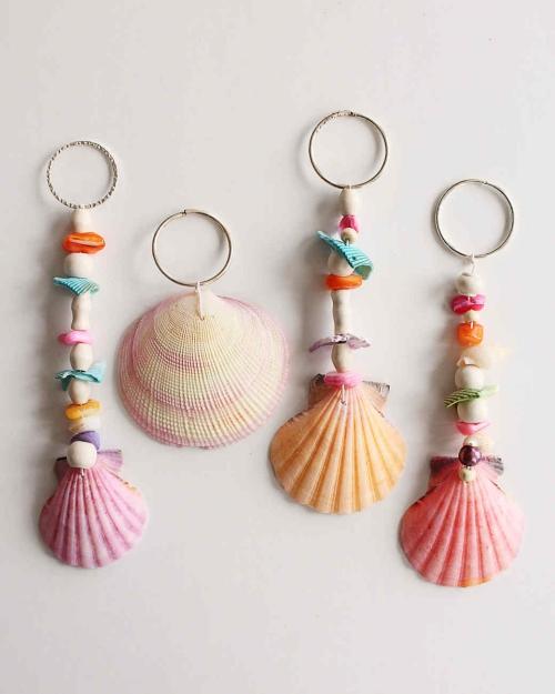Idées d'artisanat de coquillages jolis bijoux d' été